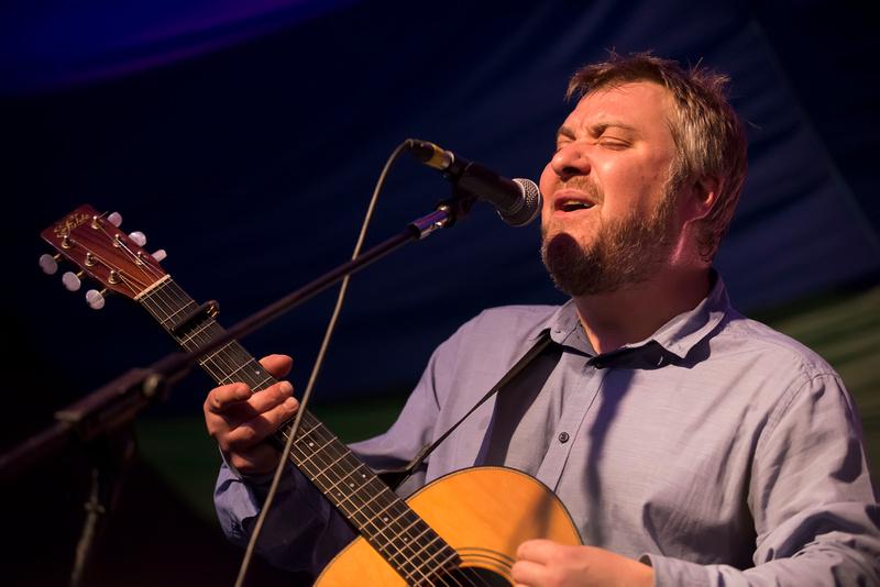 jimi goodwin at Moseley Folk Festival 2014
